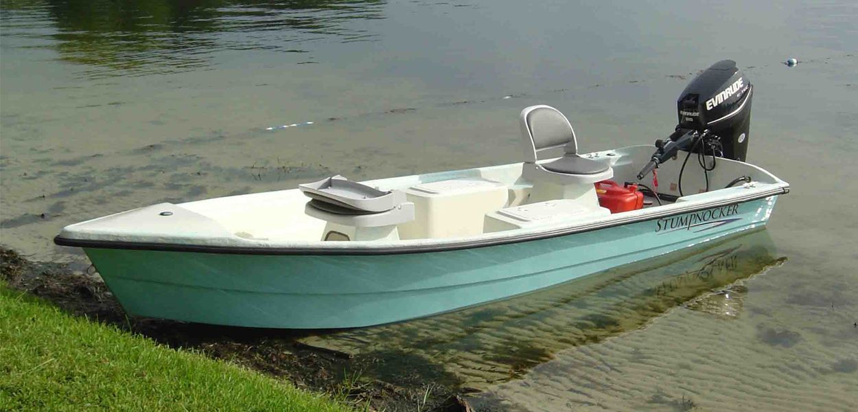 144 Skiff Tiller Stumpnocker By Salty Boats
