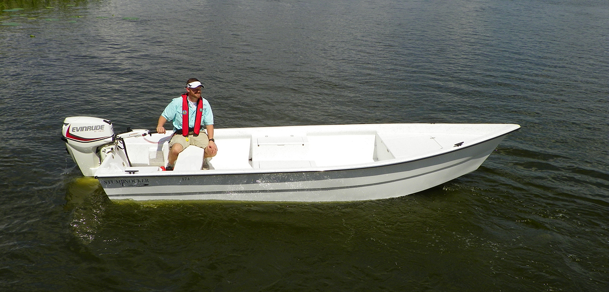 174 Skiff Tiller Stumpnocker By Salty Boats